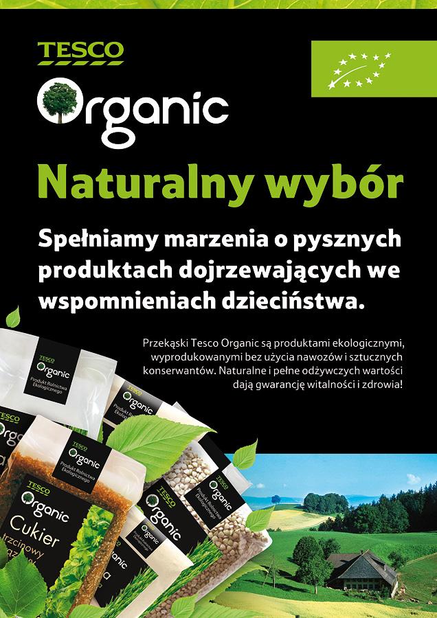 Tesco Organic / Copywriting Agata Stachowska