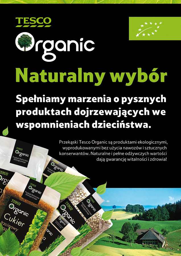 Tesco Organic / Copywriting Agata Stachowska